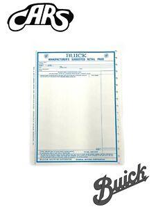 1967 Buick Window Sticker | New | Free Shipping