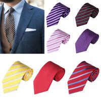 Men Stripe Dot Tie Wedding Party Business Necktie Suit Accessory Gift Charm