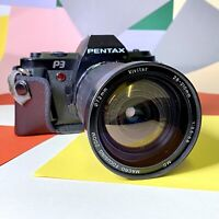 PENTAX P3 35mm FILM SLR Camera, Working, Film Tested 28-210mm F:3.5-5.6 Lens