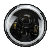 "7"" faro LED Halo proiettore Angel Eye DRL per Jeep Wrangler JK TJ LJ E9"