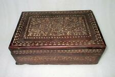 Antique Old Rare Wooden Hand Carved Flower Design Holy Worship Book Storage Box