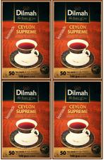 Dilmah Ceylon Supreme Tea 50 Tea Bags x 4 Boxes Ceylon Tea 400g