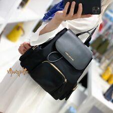MICHAEL KORS ABBEY Large Cargo Lightweight Nylon Backpack Black + Dust Bag