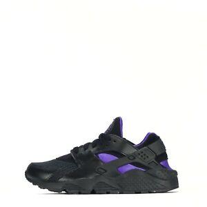 Nike Air Huarache Women's Trainers Shoes Black Purple UK 4.5