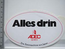 Aufkleber Sticker ADEC - Quarz - Uhern - Zeitmaschine (5360)