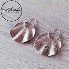 Large Copper Geometric Beaten Shape Earrings Jewellery Fashion Women