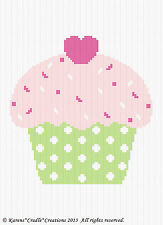 Crochet Pattern - CUTE AS A CUPCAKE Color Graph/Chart Baby Afghan Pattern