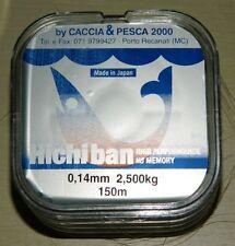 monofilo hiciban mm0.14 m 150 x mulinello  pesca mf bc4