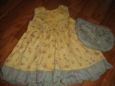 BOUTIQUE CORNELLOKI 6-12 YELLOW FLORAL DRESS SET