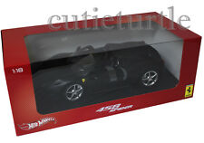 Hot Wheels Ferrari 458 Spider Italia 1:18 Diecast Matte Black X5528