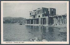 GENOVA RAPALLO 48 CASTELLO Cartolina viaggiata 1948