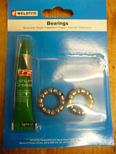 Weldtite bike/cycle caged 1/4 ball bearings & grease to fit rear wheel new