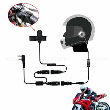 Helmet Motorcycle Headset Earphone 2PIN PTT For KENWOOD Baofeng PUXING TYT Radio