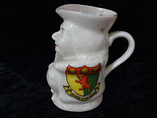 Carlton China Model of a Toby Jug with Grange-Over-Sands Crest