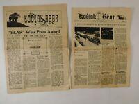 Vintage Original Kodiak Bear Newspapers 1950-1951 Fort Greenly Alaska U.S Naval