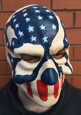 Máscara de The Purge 3 Halloween año de elecciones Bandera Americana Stars & Stripes Látex