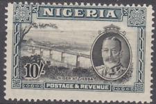 Nigeria 1936 Mint Mounted 10/- Black & Green SG44 Cat £90