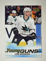 2019-20 UD Series 1 Young Guns #245 Lean Bergmann - San Jose Sharks