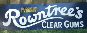 ROWNTREE'S CLEAR GUMS ENAMEL SIGN REPRODUCTION (MADE TO ORDER) #09#