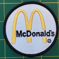 """McDonald/'s Golden Arches Embroidered Sew On Patch 3.5/"""" x 2.5/"""" NOS"""
