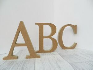 Free Standing Wooden Letters 18 mm thick MDF wood 8 cm,14.5 cm high Georgia Font