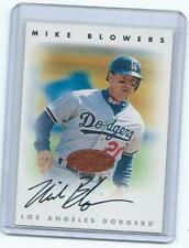 1996 Leaf Signature**Mike Blowers on card autograph-Dodgers