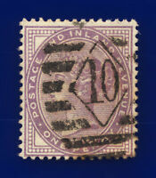 1881 SG170 1d Lilac (Die-I) (14 dots) K7(1) London Good Used Cat £45 ctfx