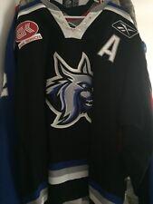 "ECHL 2007-08 AUGUSTA LYNX ""A"" JASON PLATT GAME WORN HOCKEY JERSEY"