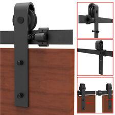 4-20FT Kit de pista deslizante de hardware de puerta de granero moderno puerta del armario de colgar para un solo