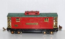 Lionel prewar 817 Red & Green Caboose BIG O Brass 1933 type 4 tinplate