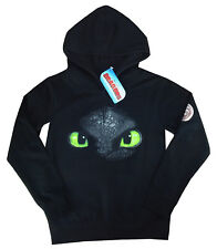 Dragons Kinder Kapuzenpullover/Hoodie *Ohnezahn Toothless* schwarz (104-110) NEU
