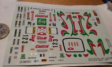 decals decalcomanie toyota gt four monte carlo 1995 1/43