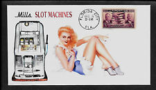 Mills 50c Slot Machine & Pin-up Girl Featured on Collector's Envelope *A368