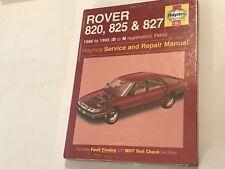 NEW ROVER 820 825 827 HAYNES SERVICE & REPAIR MANUAL PETROL Inc V6 1986-1995 D-N