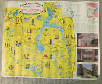 1956 Itasca State Park Mississippi Head Waters MN Pictorial Map Jo Mora Style