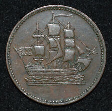 Canada PEI Ships Colonies Commerce ½ Penny Token Ch VF B.997 PE10-45, Lees 45
