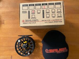 Bauer RX-2 Fly Reel - Black with case and box
