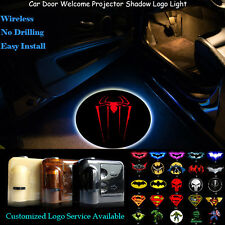2x Red Spider-Man Logo Wireless Car Door Welcome Projector Shadow CREE LED Light