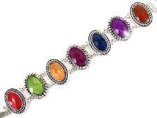 Bracelet, Beautiful Multicolored Oval Links Retro Classy Fashion Jewelry #508-A