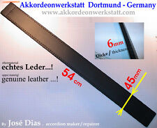 4,5 x 54 Cm  Akkordeon (Leder) Bassgurt, Basriemen, accordion bass belt, strap
