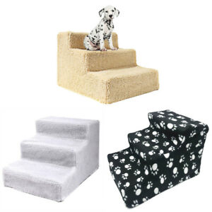 3 Steps Pet Stairs Foldable Dog Cat Steps Ramp Ladder Puppies Home Supplies