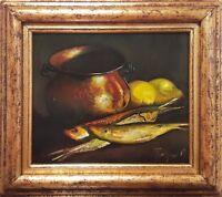 "Original Oil On Board Painting ""Ocean Fish"" by Popa Popa's"