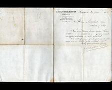 """LIMOGES (87) USINE de BOUCHONS en Liége """"A. NIOX-CHATEAU & L. BONADIER"""" en 1880"""