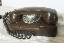 Vintage GTE Starlite Rotary Dial Telephone in brown vgc Classic 70s