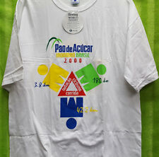 2000 Lanzarote Ironman Pao de Acucar Brasil Triathlon T Shirt L - NWT - White