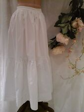Antique French Victorian Bustle Skirt ~Handmade White Cotton Linen