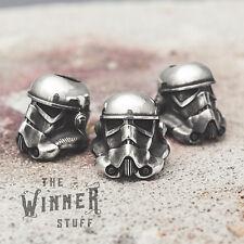 Stormtrooper - knife lanyard paracord leather bead helmet star wars