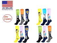 3 Pairs Compression Socks Stockings Womens Mens Knee High Medical 20-30mmHG