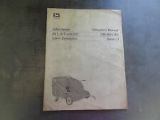 John Deere 26T 31T and 38T Lawn Sweepers Operator's Manual   OM-M46746 Issue J1