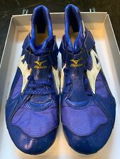 RARE Limited Edition 1500 MIZUNO Track Spike Made In Japan US 10 JP 28 Blue Gold